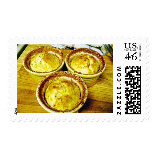 Crab Souffle Cooking Dinner Postage Stamp