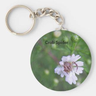 Crab Spider Aster Daisy Keychain