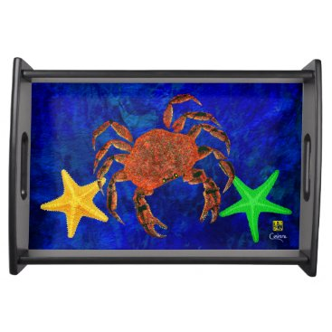 Wedding Themed Crab & Starfish - Small Serving Tray