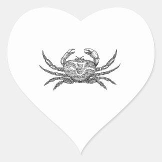 Crab Heart Sticker