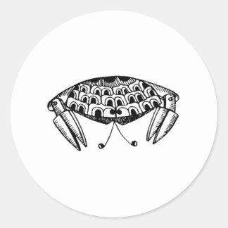 Crab Round Sticker