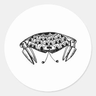 Crab Round Stickers