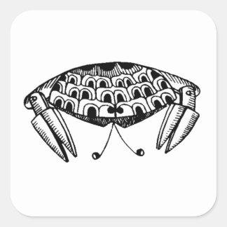 Crab Square Stickers