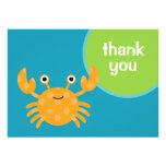 Crab Thank You Card Custom Invitations