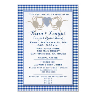 Crab Theme with Blue Gingham Card