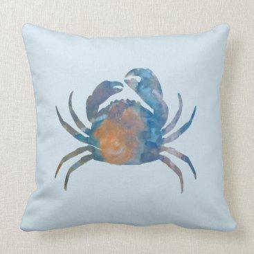Beach Themed Crab Throw Pillow