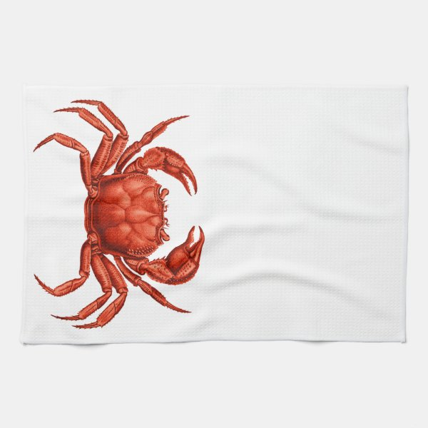 Crab Towel for a Coastal Kitchen