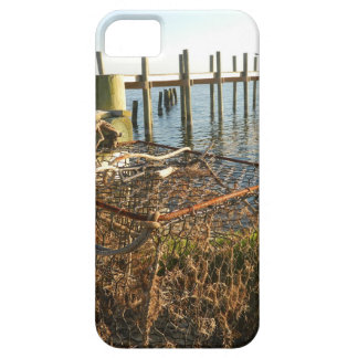 Crab Trap and Dock at Sunset iPhone SE/5/5s Case