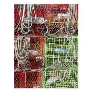 Crab Traps Close Up Postcard