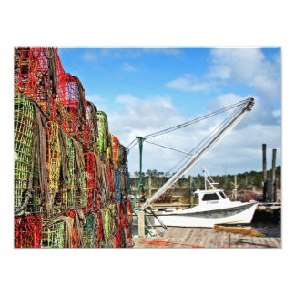 Crab Traps Stacked and Ready Photographic Print