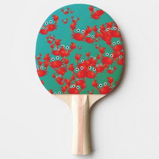Crab world ping pong paddle