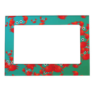 Crab world magnetic photo frame