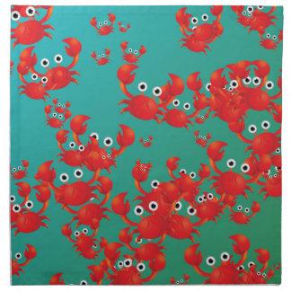 Crab world napkins