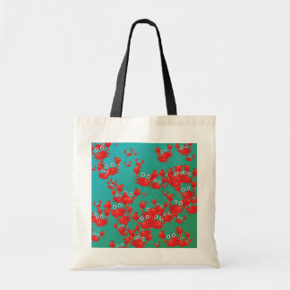 Crab world tote bag