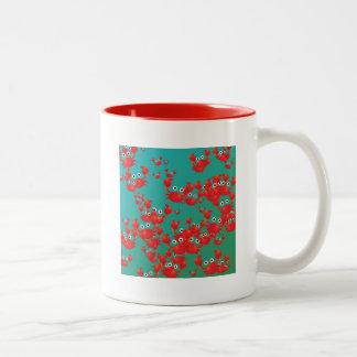 Crab world Two-Tone coffee mug