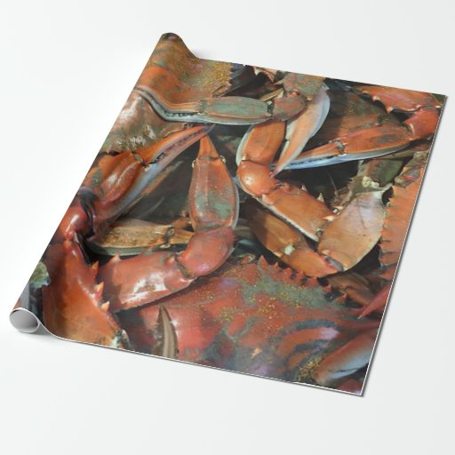 Crab Wrapping Paper