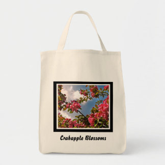 Crabapple Blossoms Grocery Tote Bag