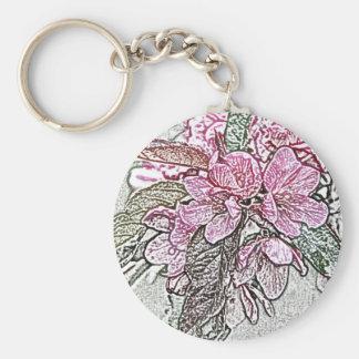 Crabapple branch key chain