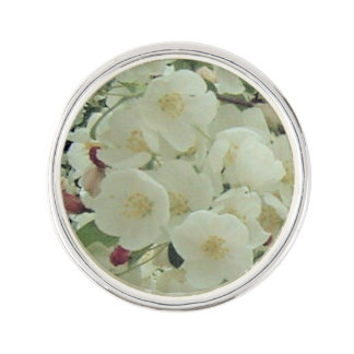 Crabapple Buds & Blossoms Floral Pattern Pin