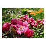 Crabapple florece Pascua Felicitación
