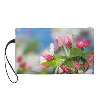 Crabapple Tree Floral Photo Wristlet Bag