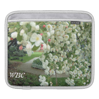 Crabapple Tree in Bloom Floral Girly Pattern iPad Sleeve
