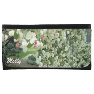 Crabapple Tree in Bloom Floral Girly Pattern Wallets