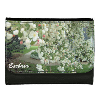 Crabapple Tree in Bloom Floral Girly Pattern Wallets For Women
