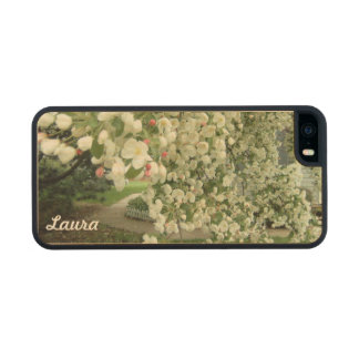 Crabapple Tree in Bloom Floral Girly Pattern Wood iPhone SE/5/5s Case