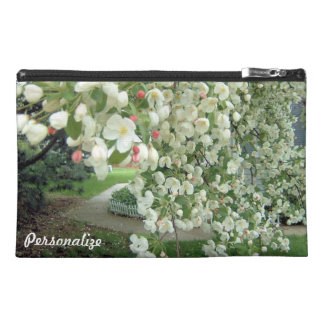 Crabapple Tree in Bloom Garden Scene Personalized Travel Accessory Bag