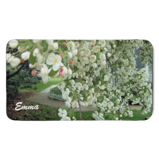 Crabapple Tree in Bloom White/Pink Floral Pattern Galaxy S5 Pouch