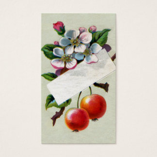 Crabapples and Blossoms Victorian Business Card