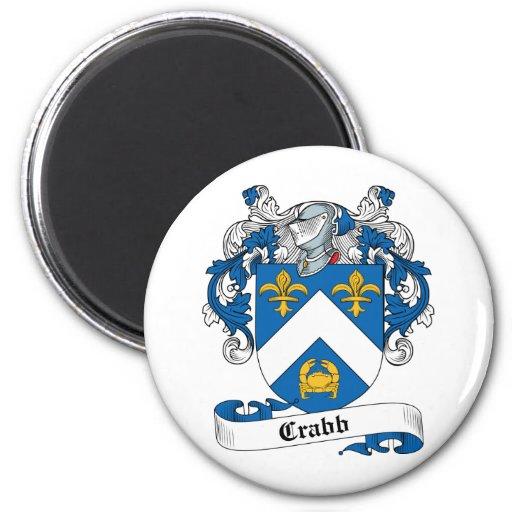 Crabb Family Crest 2 Inch Round Magnet