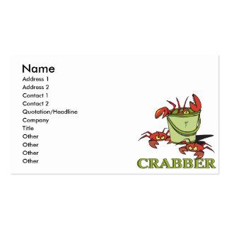 crabber bucket of crabby crabs business card