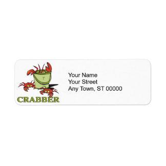 crabber bucket of crabby crabs label