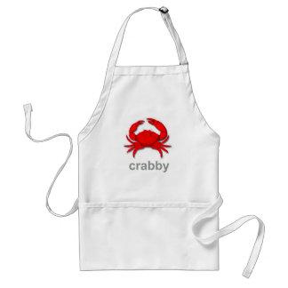 crabby adult apron