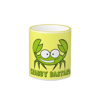 Crabby bastard ringer mug