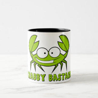 Crabby bastard Two-Tone coffee mug