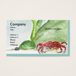 Crabby/Bubbles Business Card