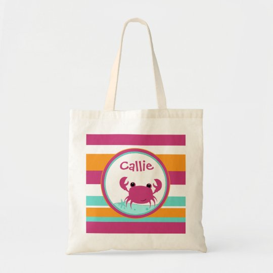 Crabby Buddy Girls Personalized Bag