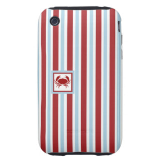 Crabby Case - Blue & Red Stripes - iPhone Case