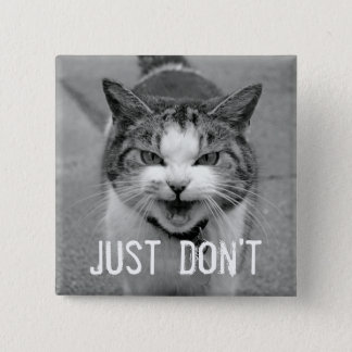 Crabby Cat Button