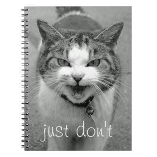 Crabby Cat Notebook