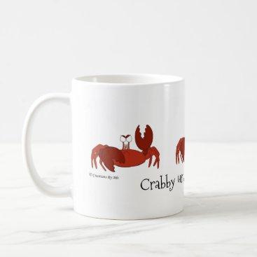 Coffee Themed Crabby Coffee Mug