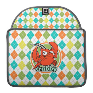 Crabby; Colorful Argyle Pattern Sleeve For MacBook Pro