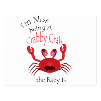 Crabby Crab Baby Postcard