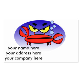 Crabby Crab Business Card