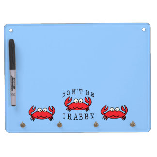 CRABBY CRAB DRY ERASE BOARD WITH KEYCHAIN HOLDER