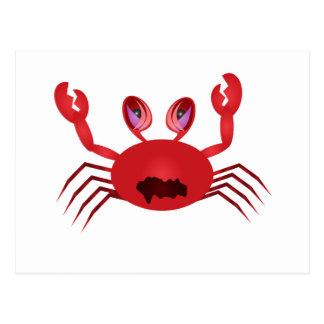 Crabby Crab Postcard