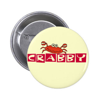 Crabby Crab Tshirts and Gifts Button